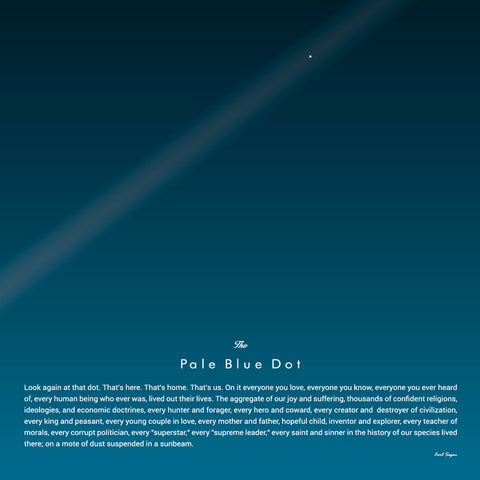 Carl Sagan's Pale Blue Dot Quote Poster - Wolf and Rocket