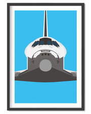 Space Shuttle Poster Print-Poster-Wolf and Rocket