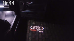 AUDI  LOGO PROJECTOT LIGHTS Nr.44 (quantity 1 = 2 Logo Films /2 door lights)