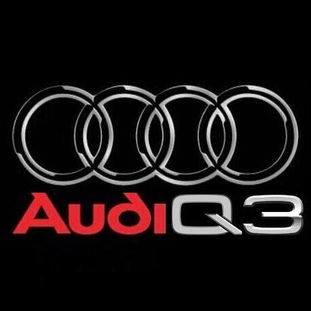 AUDI  LOGO PROJECTOT LIGHTS Nr.47  (quantity 1 = 2 Logo Films /2 door lights)