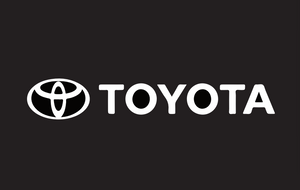 TOYOTA  Door lights Logo  Nr. 01  ( quantity 1 = 2 logo Film / 2 door lights)