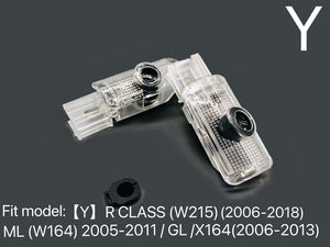 MERCEDES BENZ V8 LOGO PROJECTOT LIGHTS Nr.22 (quantity 1 = 1 sets/2 door lights)