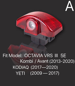 SKODA YETI LOGO  LIGHTS Nr.53 (quantity  1 =  2 Logo Film /  2 door lights)