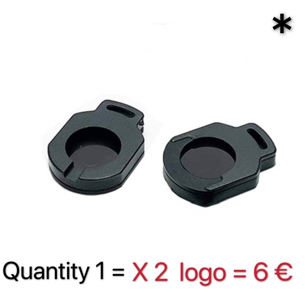 AUDI QUATTRO GECKO LOGO PROJECTOT LIGHTS Nr.67  (quantity 1 = 2 Logo Films /2 door lights)