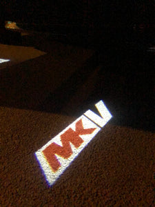 Volkswagen Door lights MK5  Logo  Nr 103   (quantity 1 = 2 Logo Films /2 door lights)