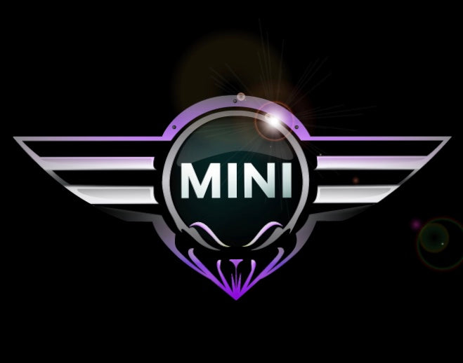 Mini  LOGO PROJECROTR LIGHTS Nr.01 (quantity 1 = 1 sets/2 door lights)