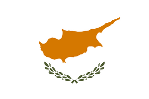 Cyprus Κυπριακή Δημοκρατία   National Flag  logo (quantity 1 = 1 sets / 2 logo film /  Can replace of lights  other logos )