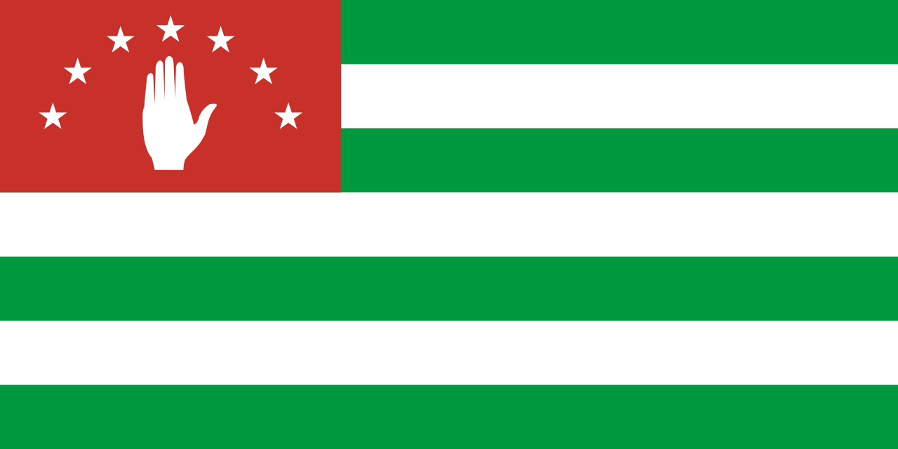 Abkhazia  National Flag  logo (quantity 1 = 1 sets / 2 logo film /  Can replace of lights  other logos )