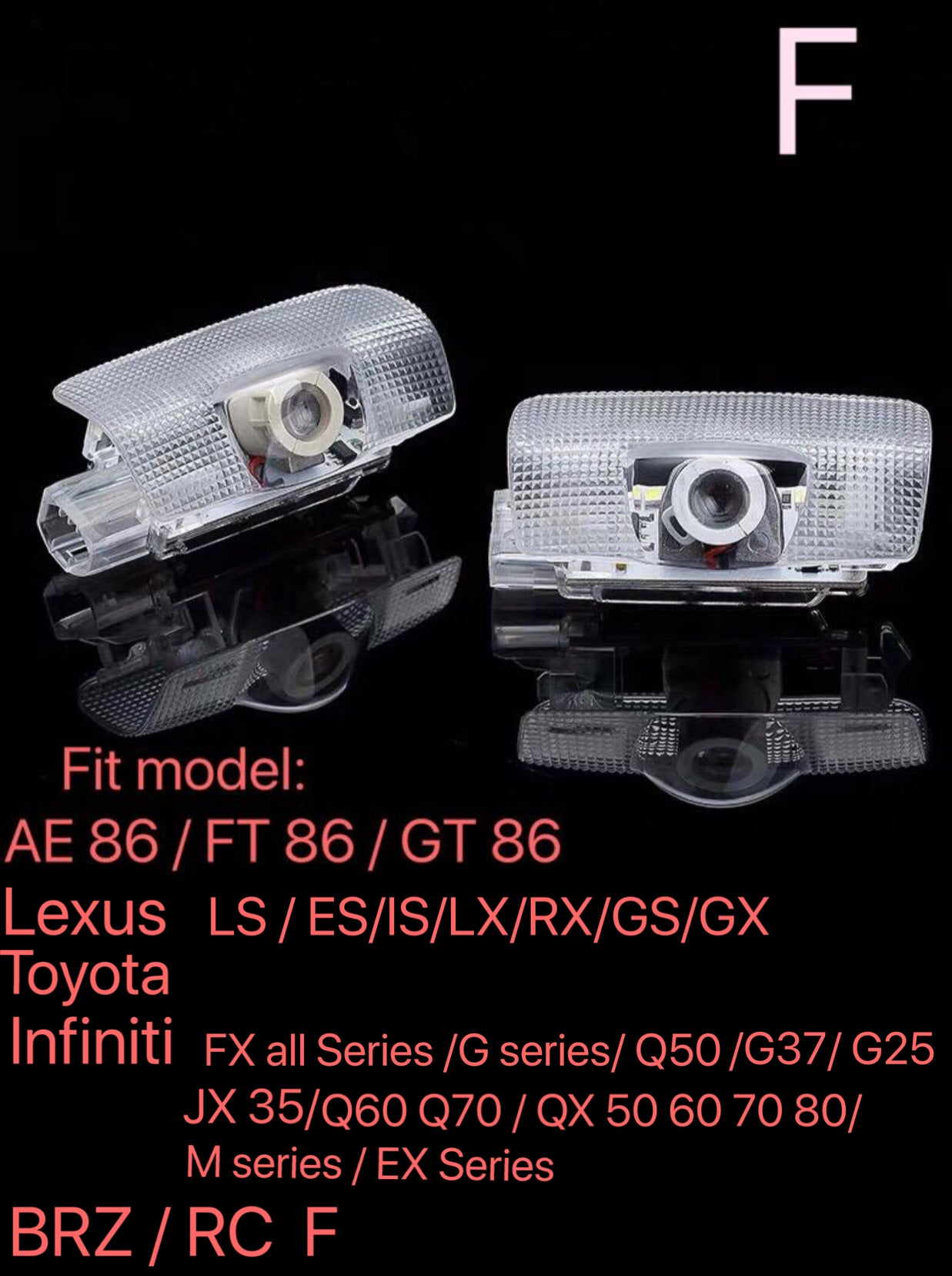 INFINTI G35 LOGO PROJECROTR LIGHTS Nr.38 (quantity 1 = 1 sets/2 door lights)