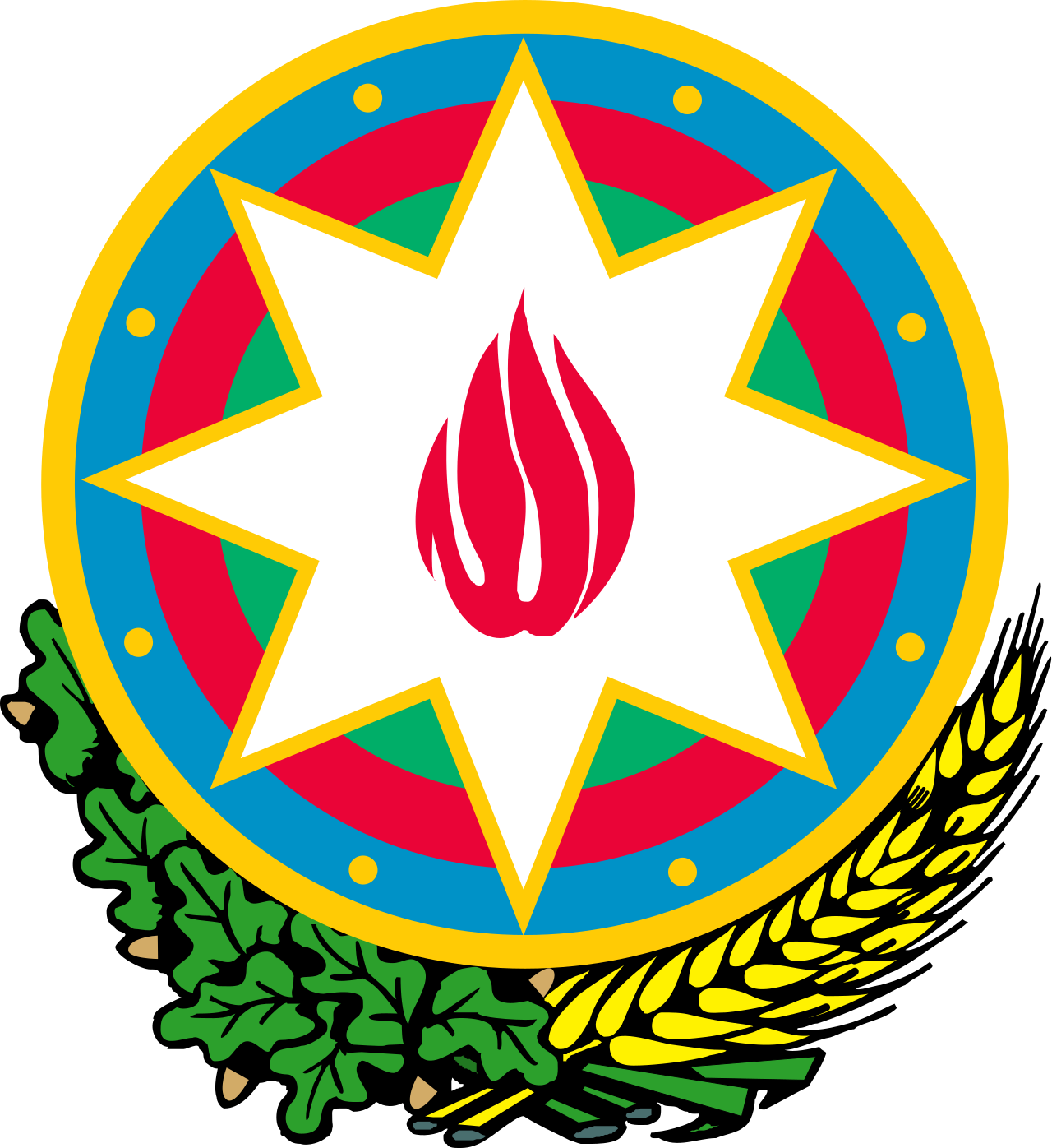 Azərbaycan  National Flag  logo (quantity 1 = 1 sets / 2 logo film /  Can replace of lights  other logos )