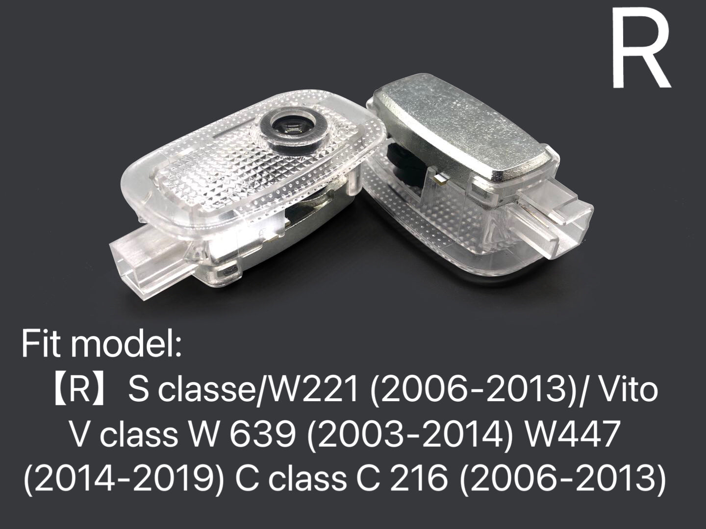 MERCEDES BENZ LOGO PROJECTOT LIGHTS Nr.05 (quantity 1 = 1 sets/2 door lights)