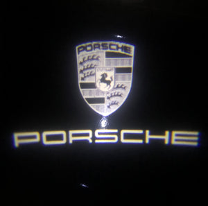 PORSCHE Original  LOGO PROJECTOT LIGHTS Nr.07 (quantity  1 =  2 Logo Film /  2 door lights)