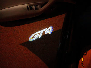 PORSCHE GT4 LOGO PROJECTOT LIGHTS Nr.14 (quantity  1 =  2 Logo Film /  2 door lights)