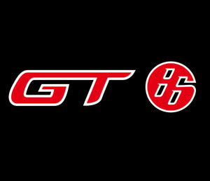 GT 86 LOGO PROJECTOT LIGHTS Nr.06 (quantity 1 = 2 Logo Films /2 door lights)