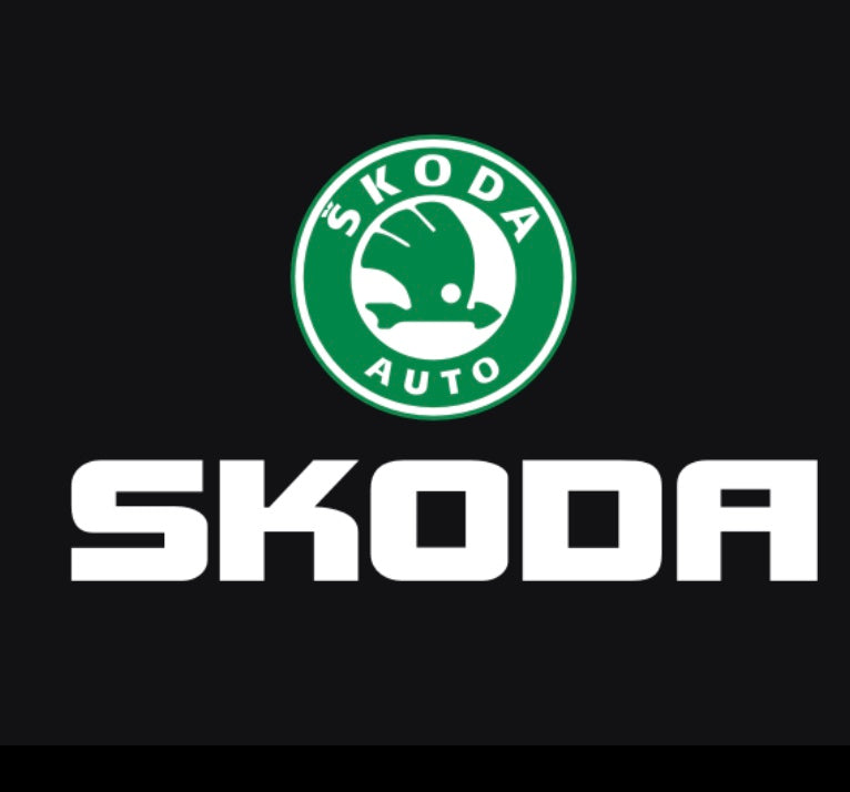 SKODA LOGO PROJECTOT LIGHTS Nr.14 (quantity  1 =  2 Logo Film /  2 door lights)