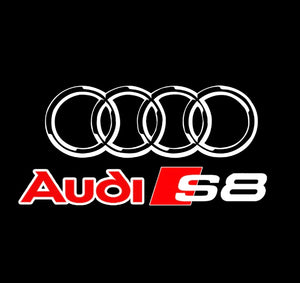 AUDI  LOGO PROJECTOT LIGHTS Nr.38  (quantity 1 = 2 Logo Films /2 door lights)