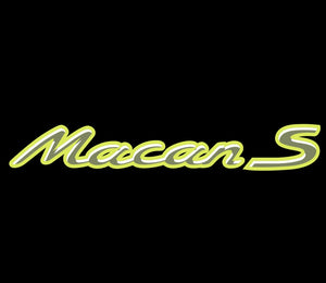 PORSCHE Macan S  LOGO PROJECTOT LIGHTS Nr.21 (quantity  1 =  2 Logo Film /  2 door lights)