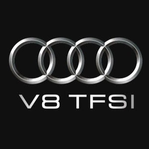 AUDI  LOGO PROJECTOT LIGHTS Nr.105  (quantity 1 = 2 Logo Films /2 door lights)