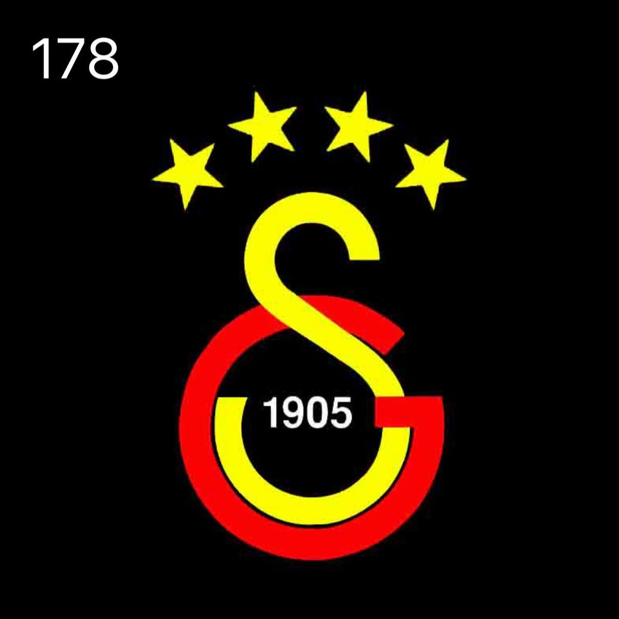 Galatasaray S.K. 1905 Logo Nr.260   (quantity 1 = 2 Logo Films /2 door lights)