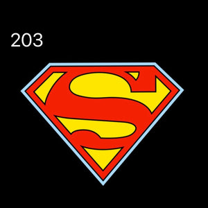 Super Man Logo Nr.241  (quantity 1 = 2 Logo Films /2 door lights)