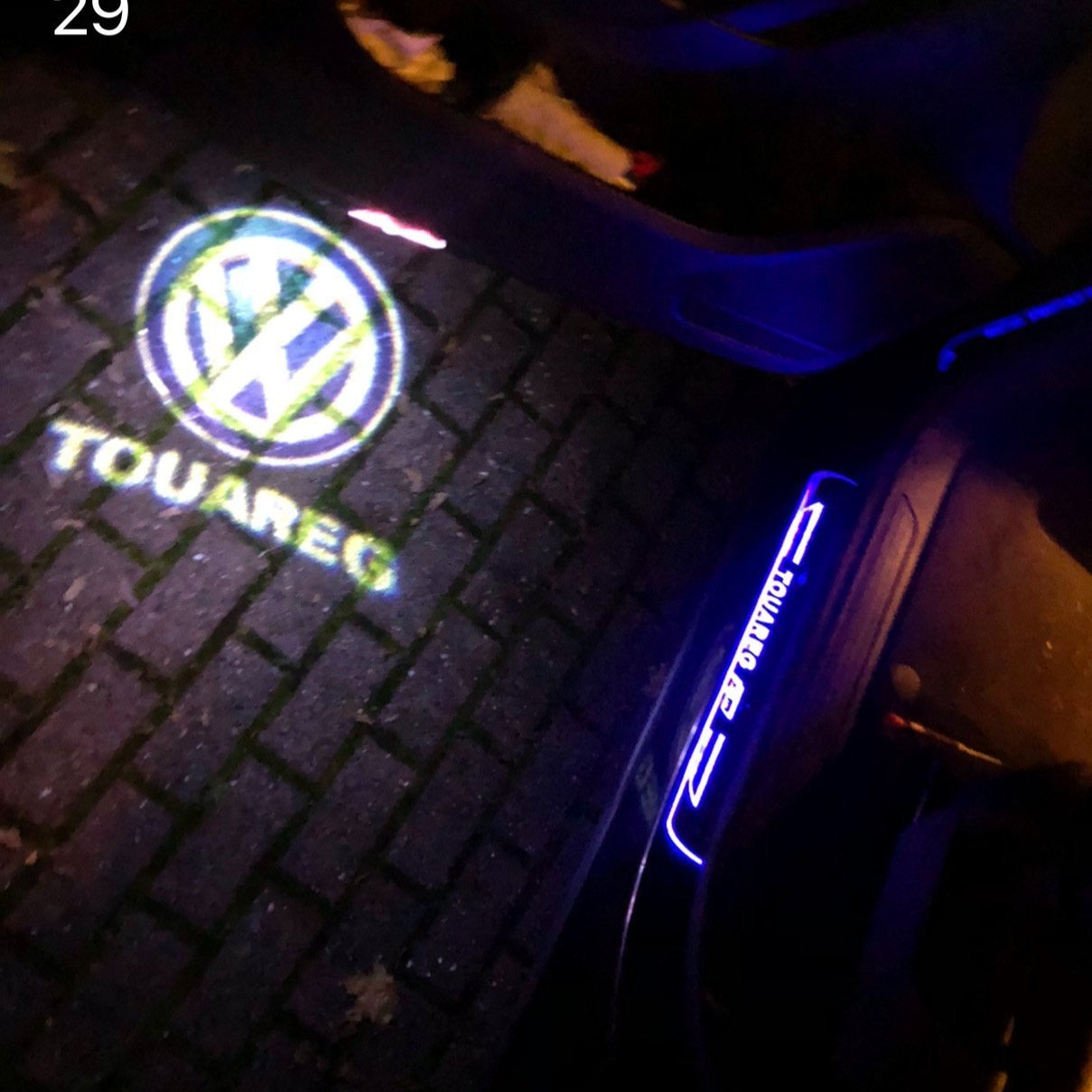 Volkswagen Door lights TOUAREG Logo  Nr. 82  (quantity 1 = 2 Logo Films /2 door lights)