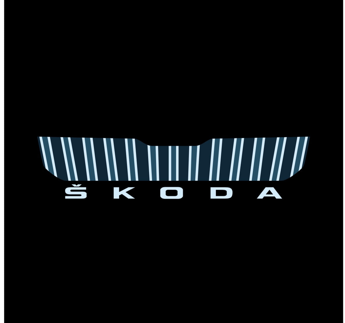 SKODA LOGO PROJECTOT LIGHTS Nr.43 (quantity  1 =  2 Logo Film /  2 door lights)