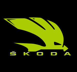 SKODA LOGO PROJECTOT LIGHTS Nr. 38 (quantity  1 =  2 Logo Film /  2 door lights)