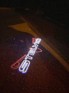 Alfa Romeo Stelvio LOGO PROJECTOT LIGHTS Nr.97 (quantity  1 =  2 Logo Film /  2 door lights)