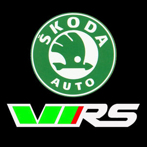 SKODA VRS  LOGO  LIGHTS Nr.21(quantity  1 =  2 Logo Film /  2 door lights)