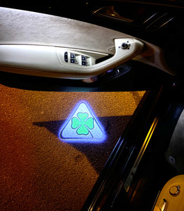 Alfa Romeo Quadrifoglio Verde LOGO PROJECTOT LIGHTS Nr.29  (quantity  1 =  2 Logo Film /  2 door lights)