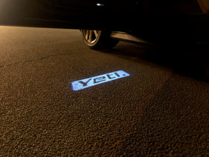SKODA YETI  LOGO  LIGHTS Nr.55 (quantity  1 =  2 Logo Film /  2 door lights)