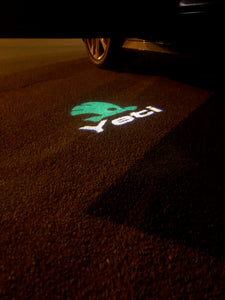 SKODA LOGO PROJECTOT LIGHTS Nr.75  (quantity  1 =  2 Logo Film /  2 door lights)