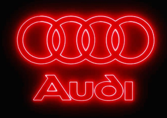 AUDI LOGO PROJECTOT LIGHTS Nr.19  (quantity 1 = 2 Logo Films /2 door lights)