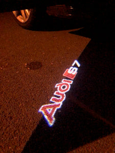AUDI  LOGO PROJECTOT LIGHTS Nr.93  (quantity 1 = 2 Logo Films /2 door lights)