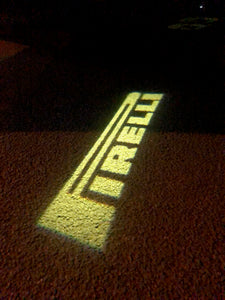 Volkswagen Door lights PIRELLI Logo  Nr. 42   (quantity 1 = 2 Logo Films /2 door lights)