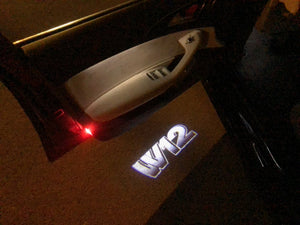 Volkswagen Door lights W12 Logo  Nr. 99   (quantity 1 = 2 Logo Films /2 door lights)