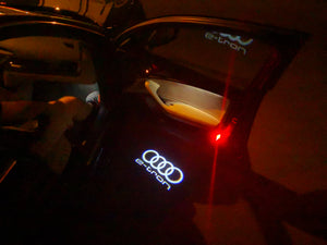 AUDI LOGO PROJECTOT LIGHTS Nr.16  (quantity 1 = 2 Logo Films /2 door lights)