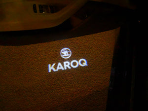 SKODA KAROQ LOGO LIGHTS Nr.110  (quantity  1 =  2 Logo Film /  2 door lights)