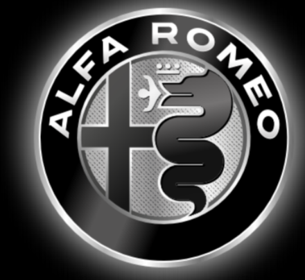 Alfa Romeo LOGO PROJECTOT LIGHTS Nr.24 (quantity  1 =  2 Logo Film /  2 door lights