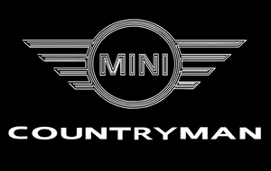 MINI COUNTRYMAN LOGO PROJECROTR LIGHTS Nr.29 (quantity  1 =  2 Logo Film /  2 door lights)