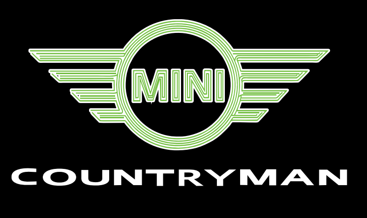 MINI COUNTRYMAN  LOGO PROJECROTR LIGHTS Nr.131 (quantity  1 =  2 Logo Film /  2 door lights)