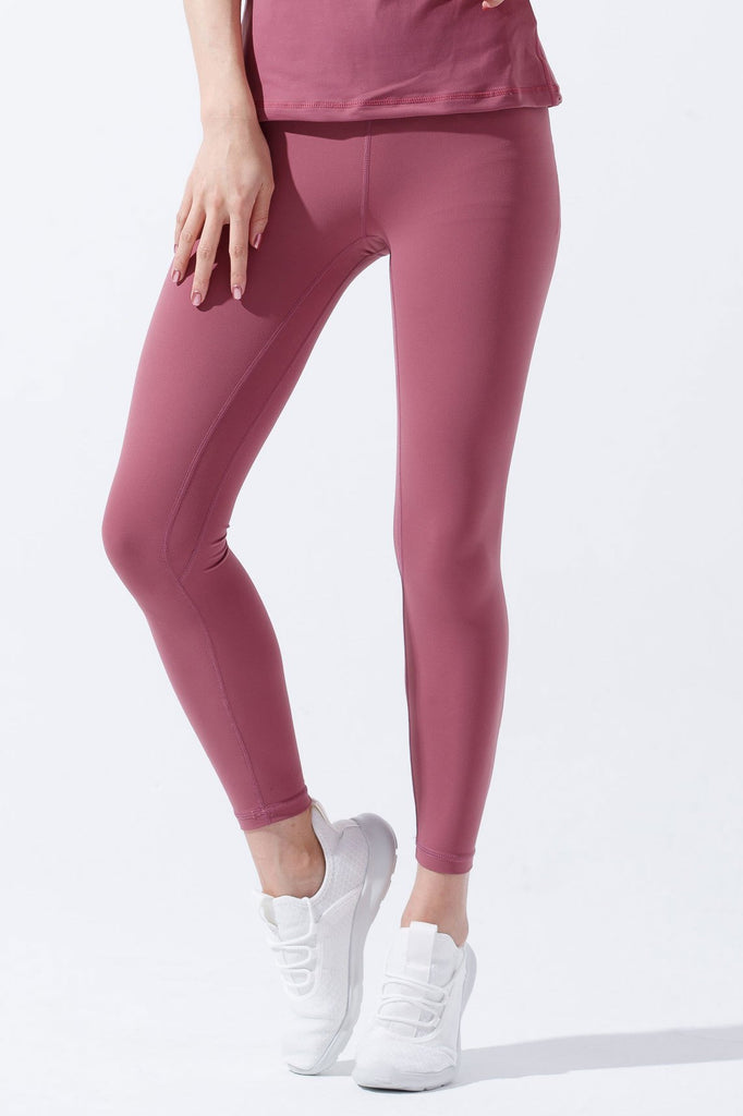 High-waist Lightweight Fitting Legging-Rose - PrettyAim Thailand