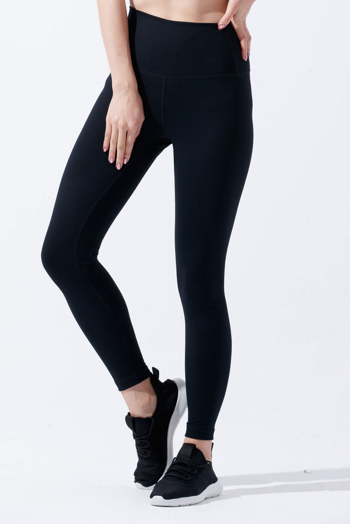 High-waist Lightweight Fitting Legging-Black - PrettyAim Thailand