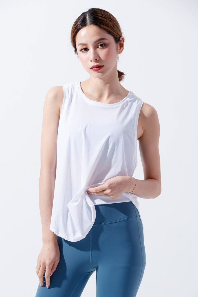 Breathable sports Tanks-White