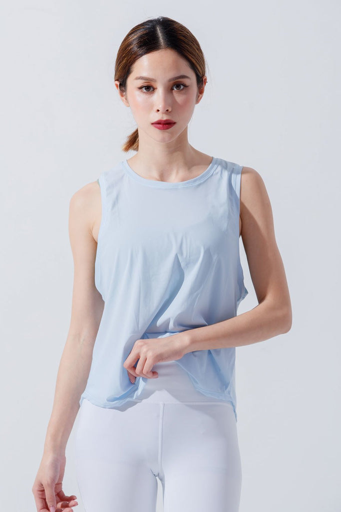 Breathable sports Tanks-Blue