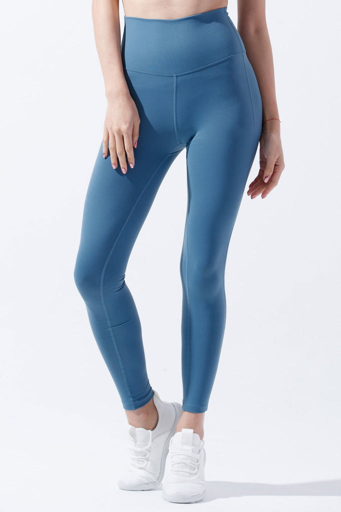 High-waist Slim Cutting Legging-Canal Blue - PrettyAim Thailand