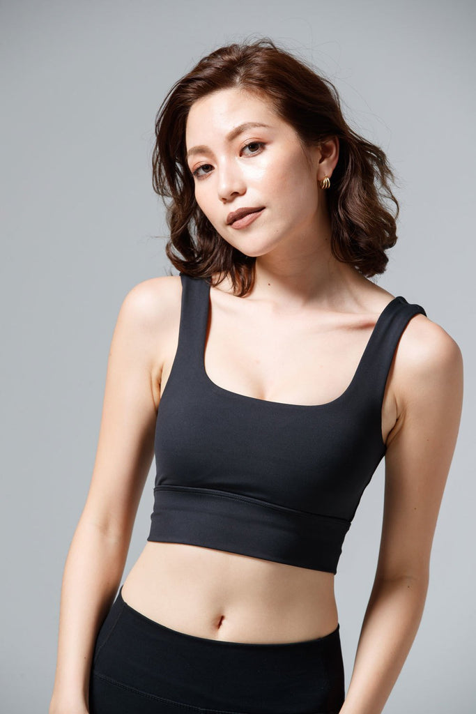 Medium-Support Base Sports Bra - Black - PrettyAim Thailand