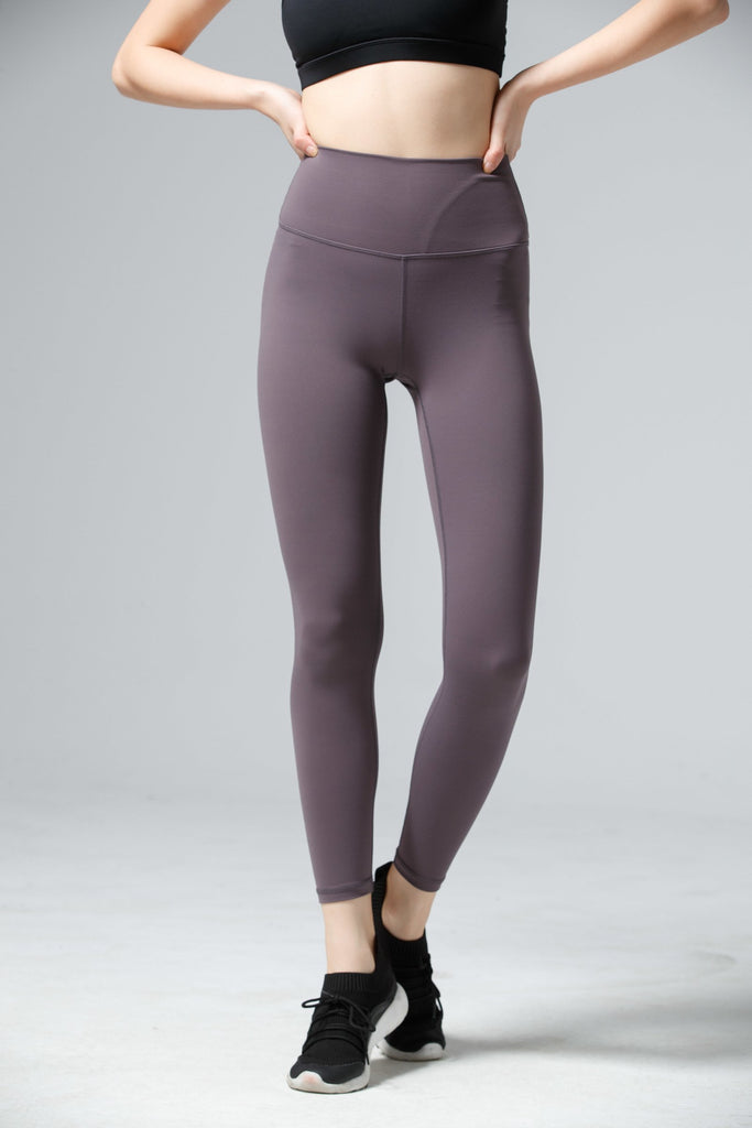 High-waist Naked Fitting Legging-Purple Gray