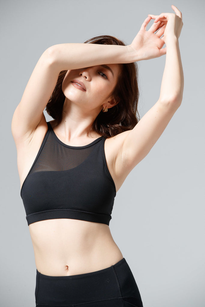 Light-Support Sunny Sports Bra-Black - PrettyAim Thailand