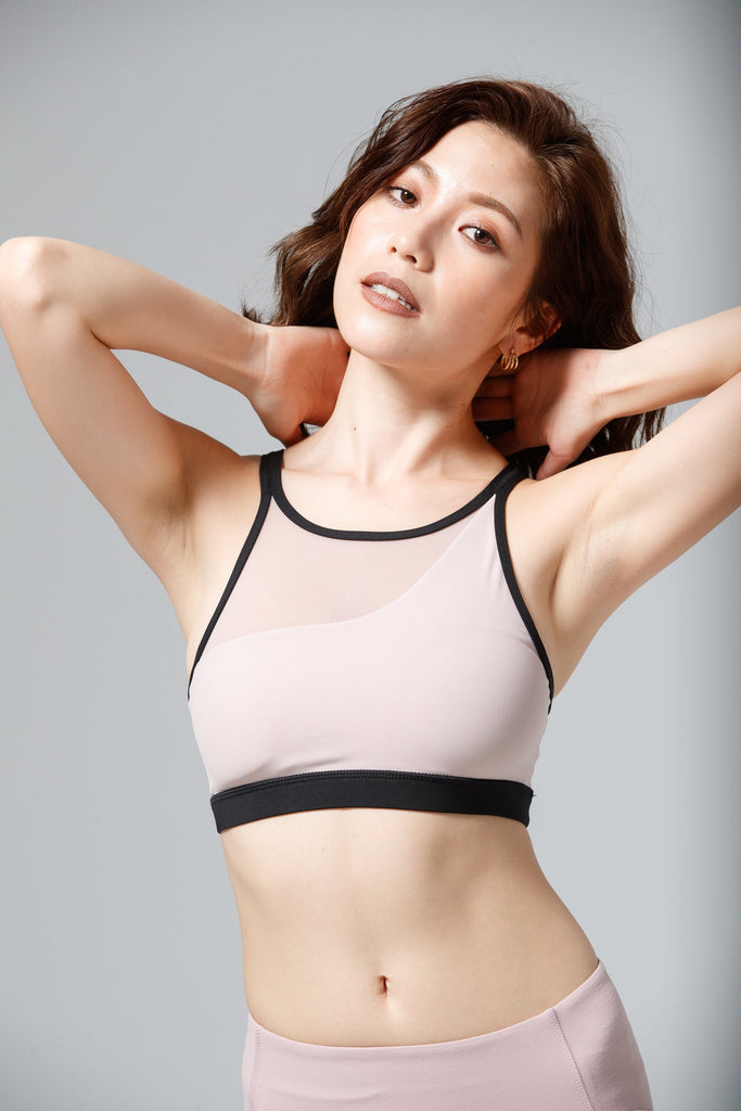 Light-Support Sunny Sports Bra-Pink - PrettyAim Thailand